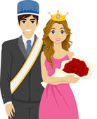 Homecoming King and Queen — Stock Photo