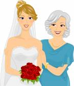 Young Bride and Her Mother — Stock Photo