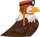 Eagle Pilot Mascot — Stock Photo