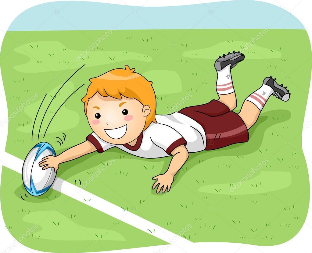 Jogador de rugby, marc...