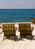 Pair of Chairs on Beach Resort — Stock Photo
