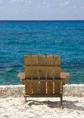 Empty Chair on the Beach — Stock Photo
