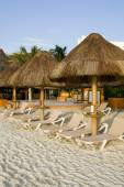 Mexican Resort with Beach Chairs — Stock Photo