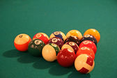 Billiards Table with Racked Balls — Stock Photo