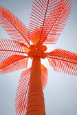 Orange Plastic Palm Tree — Stock Photo