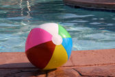 Beach Ball by the Pool — Stock Photo