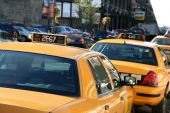 Parked Taxi Cab — Stock Photo