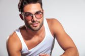 Cute fit man with glasses — Stock Photo