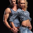 young sexy couple holding hands — Stock Photo #53014673