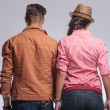 Rear view of a young couple posing — Stock Photo #64958813