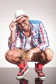 Fashion man smiling at the camera  — Stockfoto
