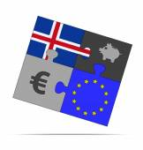 Savings puzzle iceland — Stock Vector