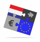 Savings puzzle netherlands — Stock Vector