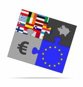 Savings puzzle — Stock Vector