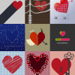 Set 9 background love — Stock Vector #55984323