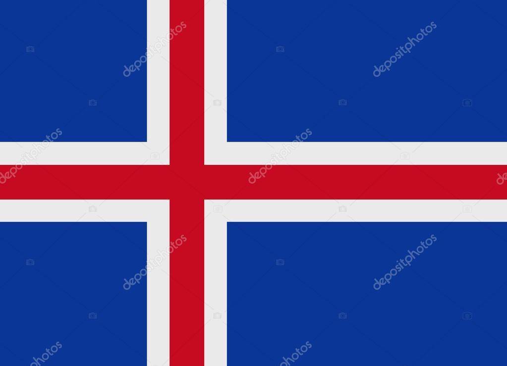 冰岛国旗矢量 — 图库矢量图像08