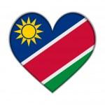 Namibia heart flag vector — Stock Vector #58901931