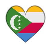 Comoros heart flag vector — Stock Vector