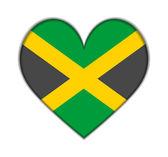 Jamaica heart flag vector — Stock Vector