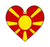 Macedonia heart flag vector — Stockvector