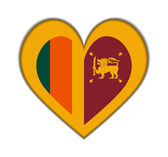 Sri Lanka heart flag vector — Stock Vector
