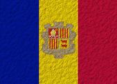Andorra flag stone — Stock Photo