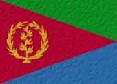 Eritrea flag stone — Stock Photo
