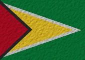 Guyana flag stone — Stock Photo