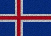 Iceland flag stone — ストック写真