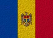 Moldova flag stone — Foto Stock