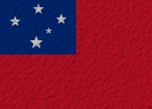 Samoa flag stone — Stock Photo