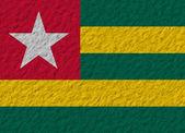 Togo flag stone — Stock Photo