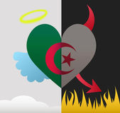 Algeria angel and devil heart — Stock Vector