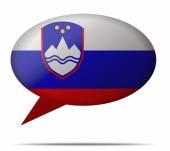 Speech Bubble Flag Slovenia — Stock Vector