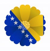 Flag flower Bosnia and Herzegovina — Stock Vector