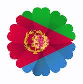 Flag flower Eritrea — Stock Vector