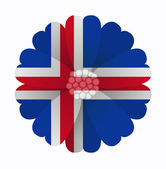 Flag flower Iceland — Stock Vector