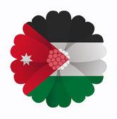 Flag flower Jordan — Stock vektor