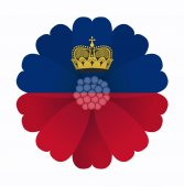 Flag flower Liechtenstein — Stock Vector