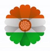 Flag flower Niger — 图库矢量图片