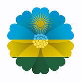 Flag flower Rwanda — Stockvector