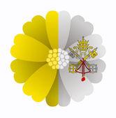 Flag flower Vatican City — Stock Vector
