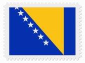Bosnia and Herzegovina flag stamp — Stock Vector