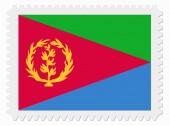 Eritrea flag stamp — Stock Vector