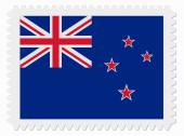 New Zealand flag stamp — Stock Vector