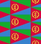 Eritrea flag texture vector — Stock Vector