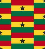 Ghana flag texture vector — Vector de stock