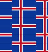 Iceland flag texture vector — Stock Vector