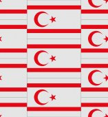 Northern Cyprus flag texture vector — Stock Vector