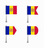 Set of four flags Andorra — Stock Vector